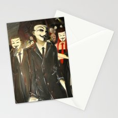 except us - Anonymous Stationery Cards