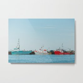 Boats and Turquoise sky Metal Print