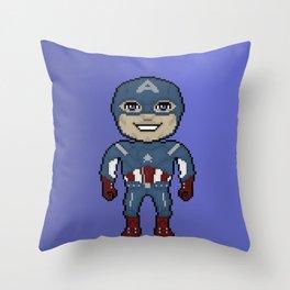 Pixelated Heroes Capt. America Super Hero Throw Pillow