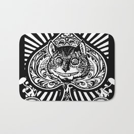 Cheshire Cat Black and White Bath Mat