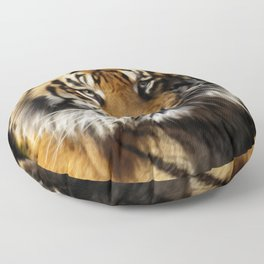 Tiger, Tiger - Big Cat Art Design Floor Pillow