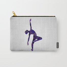 Dancer Zentangle in Purple Carry-All Pouch