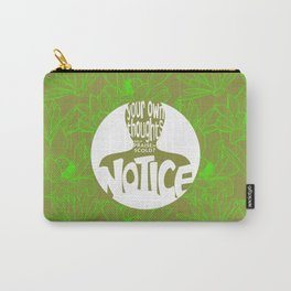 Notice – Lime (Lotus Pattern) Carry-All Pouch