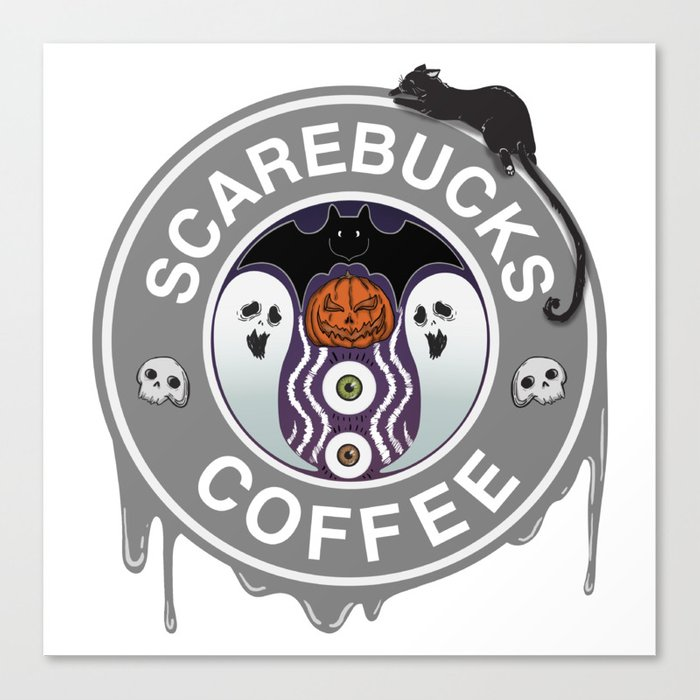 Scarebucks Coffee Canvas Print