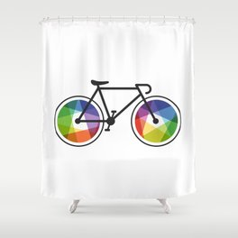 Geometric Bicycle Shower Curtain