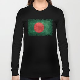 Flag of Bangladesh, Vintage Version Long Sleeve T-shirt