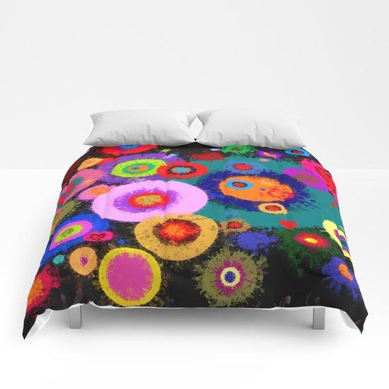 Abstract #381 Splirkles #1 Comforters