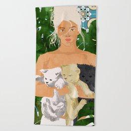 Morocco Vacay #illustration #painting Beach Towel