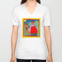blackhawks V-neck T-shirts featuring Sooner by GOONS