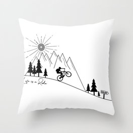 cycling mountain bike mountainbike cyclist bicycle MTB gift Throw Pillow