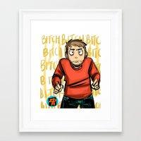 jesse pinkman Framed Art Prints featuring Jesse Pinkman  by zacksellsstuff