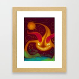 Space Nightmare Framed Art Print