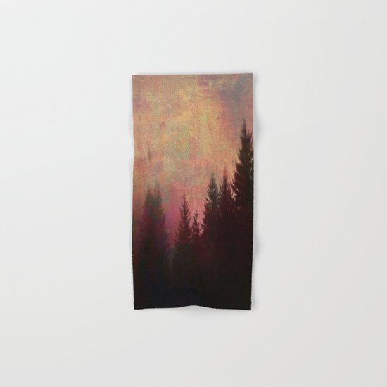 Repose, Abstract Landscape Trees Sky Hand & Bath Towel