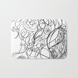 Dragon with wings Bath Mat
