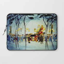 Japanese Covered Litter and Lanterns Laptop Sleeve