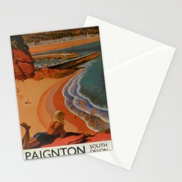 Paignton South Devon Vintage Travel Poster Stationery Cards