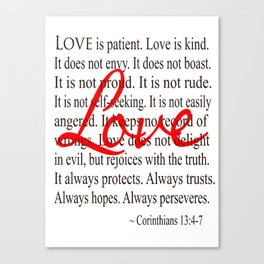Love is Patient, Love is Kind. Canvas Print