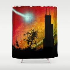 Inhale Shower Curtain