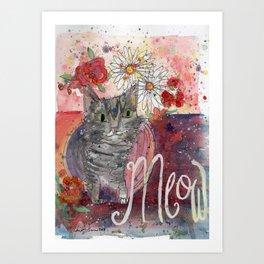 Meow Kitty Art Print