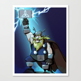 Thor God of Thunder Canvas Print