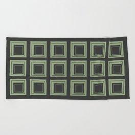 Green Squares Beach Towel