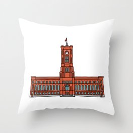 Red City Hall Berlin Throw Pillow
