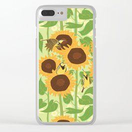 Sunbathing Meadowlarks Clear iPhone Case