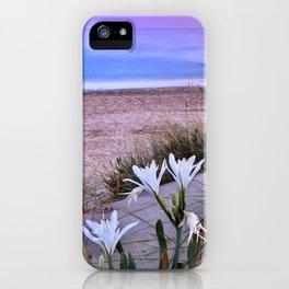 Sea Daffodil. Mediterranean sea Sunset iPhone Case