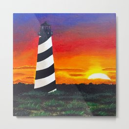 Cape Hatteras Lighthouse Painting Metal Print