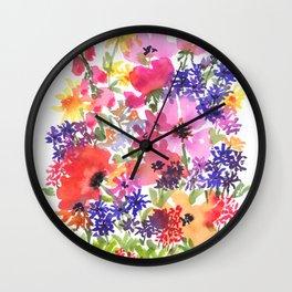 Summer's Country Garden Wall Clock