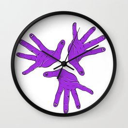 helping hands Wall Clock