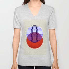 Graphic abstract circles Unisex V-Neck