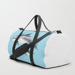 Blue Bottlenose dolphin Duffle Bag