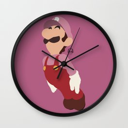 LUIGI(SMASH)PINK Wall Clock