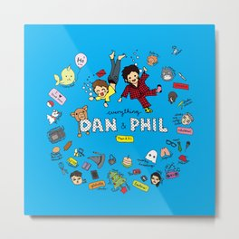 The Vortex of Everything Dan and Phil Metal Print