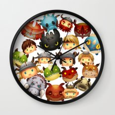 Little Dragons Wall Clock