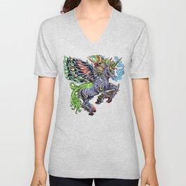 Monster unicorn Unisex V-Neck