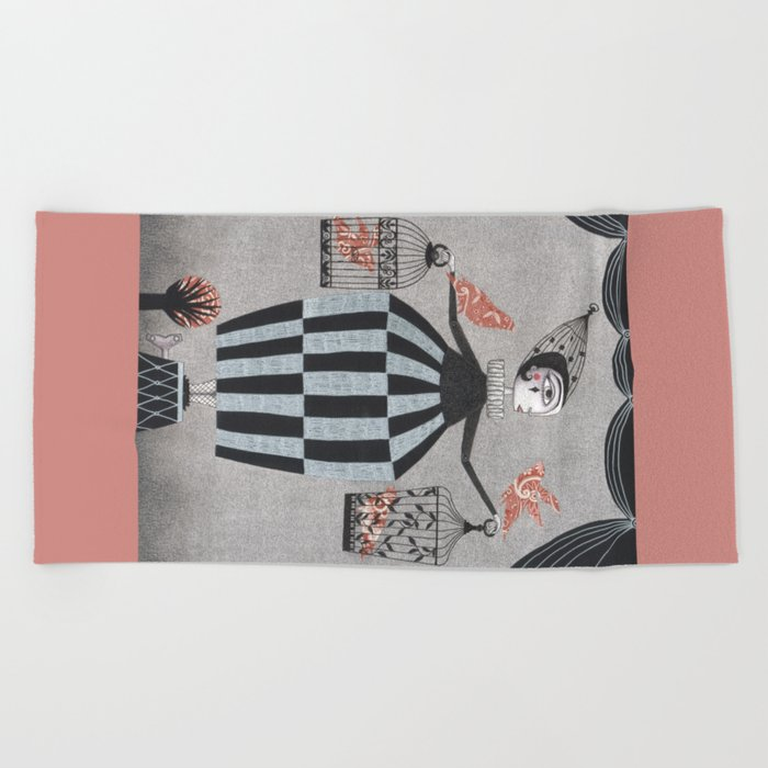 The Bird Act Beach Towel