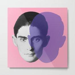 Franz Kafka - portrait pink and purple Metal Print