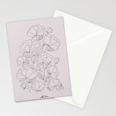 flowers, with love Stationery Cards