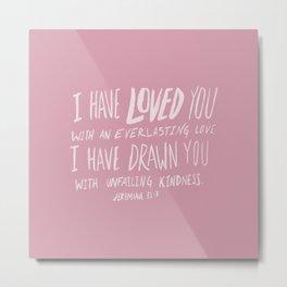 Everlasting Love x Rose Metal Print