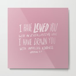 Everlasting Love x Rose Metal Print