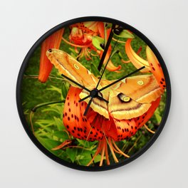 Vivid Moth Wall Clock