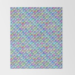 Rainbow Bubble Scales Throw Blanket