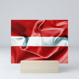 Latvia Flag Mini Art Print