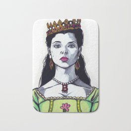 Anne Boleyn - The Tudors TV Character Art Print - Natalie Dormer Bath Mat
