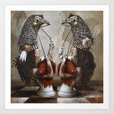 Les Cavalières Blanches Art Print