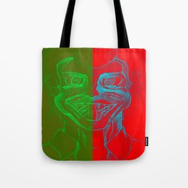 Split Personality; The Joker and Two Face Tote Bag