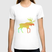 moose T-shirts featuring Moose by Steven Springer