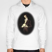 tesla Hoodies featuring Nikola Tesla by Abigail Larson